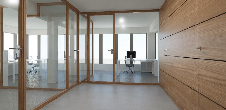 italienische holz b rotrennw nde von nodoo. Black Bedroom Furniture Sets. Home Design Ideas