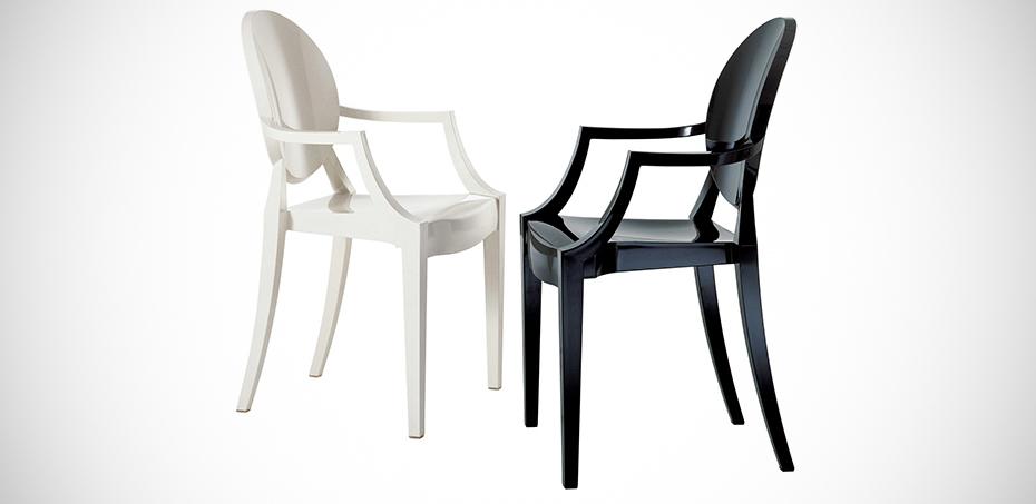 Louis Ghost Design-Stühle von Kartell, Design Philippe Starck