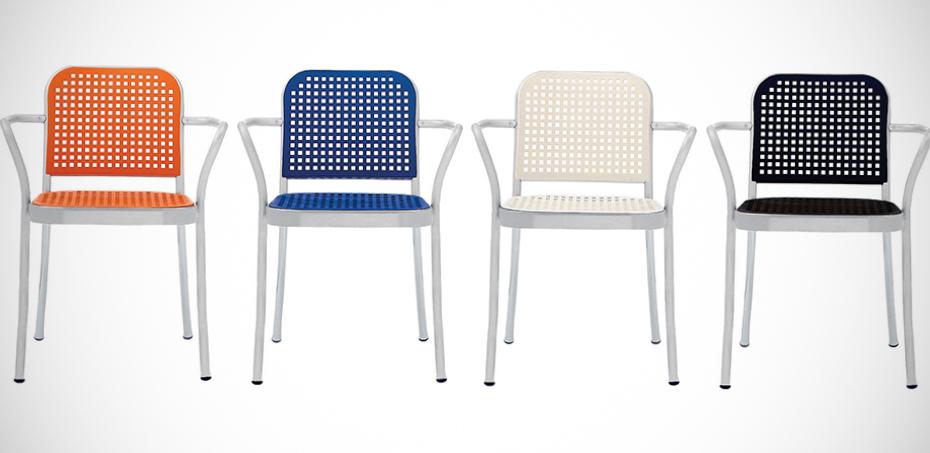Moderne Stühle Silver von De Padova, Design Vico Magistretti